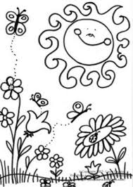 scene of spring coloring page spring coloring pages of