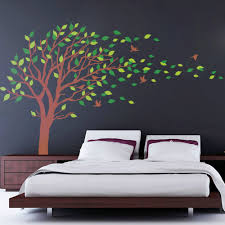 Bedroom Wall Decals Trees Blowing Tree Wall Decal Bedroom Wall Decals Wall Sticker Vinyl