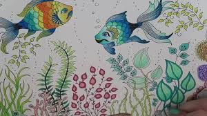 secret garden coloring book fish