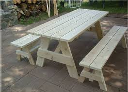 Plans To Build A Picnic Table Bench by Impressive Remarkable Wood Picnic Table With Detached Benches