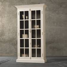 furniture home brown wooden book cabinet with sliding glass door