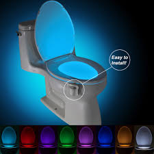 brelong aaa infrared induction led toilet night light bath