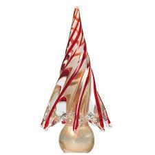 murano christmas tree red gold handblown murano glass