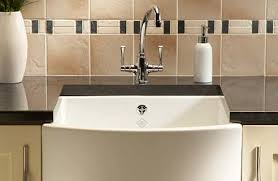 Suitable for both traditional and modern kitchen schemes, ceramic sinks