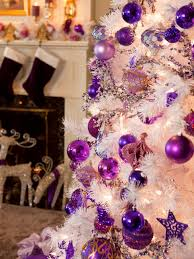 Christmas Decorations Diy by Retro Inspired Purple And White Christmas Decorations Diy