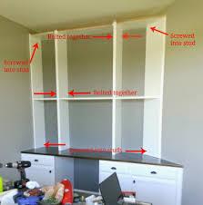 built in bookshelves with desk idi design with regard to desk