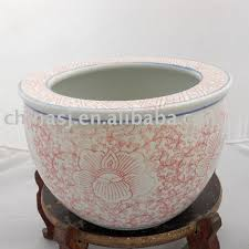 chinese porcelain fish bowl or planter pink color wryhc03 buy