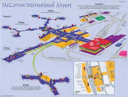 Charles De Gaulle Airport Map Mapa Del Aeropuerto Internacional Mccarran De Las Vegas Las