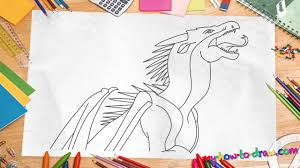 draw wings fire dragons starflight easy step step
