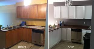 Old Wooden Kitchen Cabinets Painted Oak Kitchen Cabinets Before And After U2014 Decor Trends