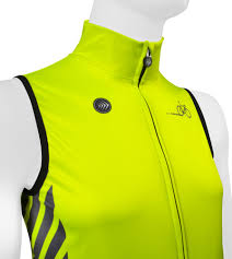 fluorescent bike jacket aero tech designs elite cycling gilet high visibility