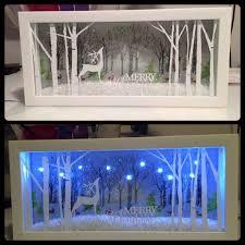 christmas shadow box idea u2026 clever crafts pinterest