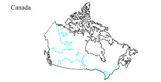 Political Map Of United States And Canada by Outline Maps