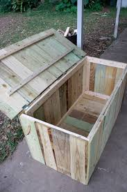 Basic Wood Bench Plans by Storage For Pool Easy To Build I Think The Bottom Would Have