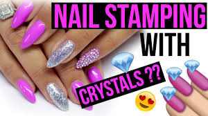 pavé crystal full nail stamping template kit tutorial review