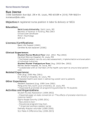 Examples Of Nursing Resumes For New Graduates Nursing Sample Resume New Graduate Nurse Resume Sample Scholarship