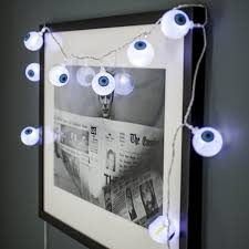 10 halloween eyeball battery operated led fairy lights by