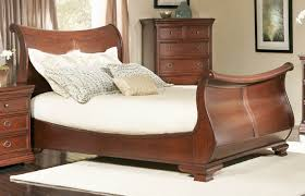 Cheap Wooden Bedroom Furniture by Bedroom Sleigh Beds For Sale Sleigh Queen Bed Frame Sleigh