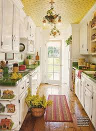 Galley Kitchen Layouts Ideas Interior White Country Galley Kitchen In Delightful Long Narrow