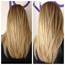 long layered v cut haircuts front view google search hair