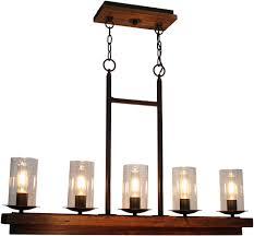 artcraft ac10145bu legno rustico brunito kitchen island light