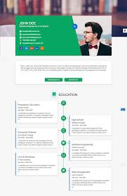 Resume Samples Of Software Engineer by 15 Best Html Resume Templates For Awesome Personal Sites