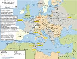 Map Of Europe And Africa by Map Of The Allied Operations 1942 And World War 2 In Europe And