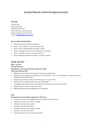 Journeyman Electrician Resume Sample by Experienced Apprentice Electrician Sample Resume Vntask Com