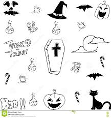 halloween vector art doodle art halloween vector stock vector image 73356740