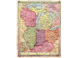 Map Of Wisconsin And Illinois by Old Map Of Wisconsin Michigan Map Illinois Map Indiana Map