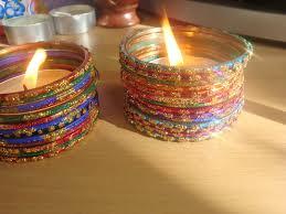 Diwali Decoration In Home Glass Bangle Candle Holder αηḓℓ ṧ Pinterest Bangle Glass