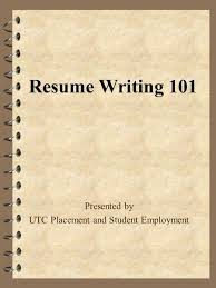 Back to Index Networking Resume Guide Networking Resume Guide     SlidePlayer Resume Writing     Presented by UTC Placement and Student Employment