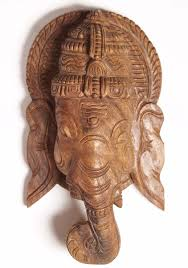 wooden wall hanging of lord ganesha 12