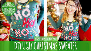 diy ugly christmas sweater bows u2013 happy holidays