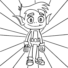 teen titans go beast boy coloring pages wecoloringpage