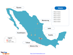 San Luis Potosi Mexico Map by Free Mexico Powerpoint Map Free Powerpoint Templates
