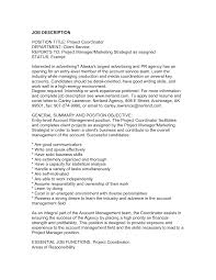 Project Coordinator Resume  sample project manager resume example     happytom co Entry Level Project Manager Resume Samples to Inspire You   Vntask com   project coordinator