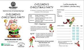 registration form for the children u0027s christmas party inscription