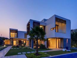 modern luxury house with cellar floor indian plans right side