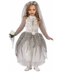 Kids Skeleton Halloween Costumes Bony Bride Girls Skeleton Costume Scary Costumes
