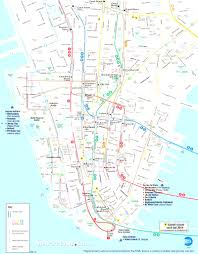 Street Map Of New York City by Map Of New York City Streets And Attractions With Map Manhattan
