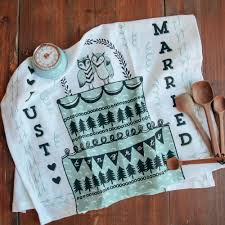 just married tea towel relish decor