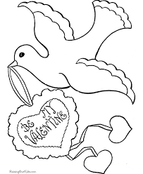 dove valentine coloring pages valentine coloring pages of