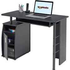 Compact Laptop Desk by Computer Desk With Cupboard And Shelves For Home Office Piranha