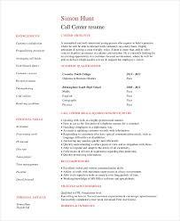 Customer Call Center Service Resume In PDF Template net