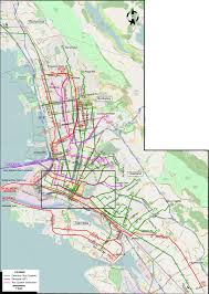 San Francisco Cable Car Map by San Francisco 1932
