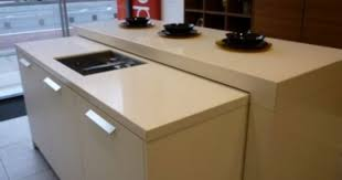 Ex Display Kitchen Islands Ex Display Satin White And High Gloss Macassar Hacker Kitchen