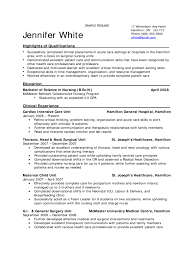 Oncology Nurse Resume Objective Endoscopy Nurse Sample Resume