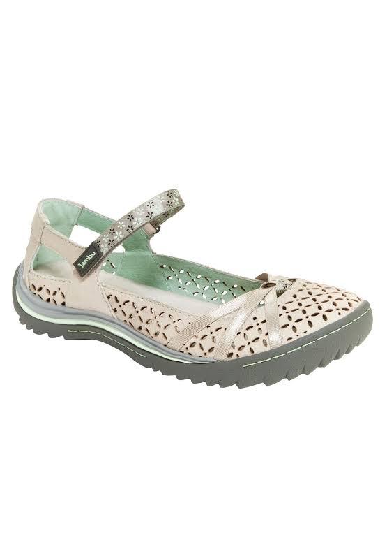 Jambu Women Cherry Blossom Shoes Gray 6.5
