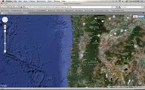 Maps Oregon by Oregon Dive Conditions Google Maps Mashup Geo 565 Mashup